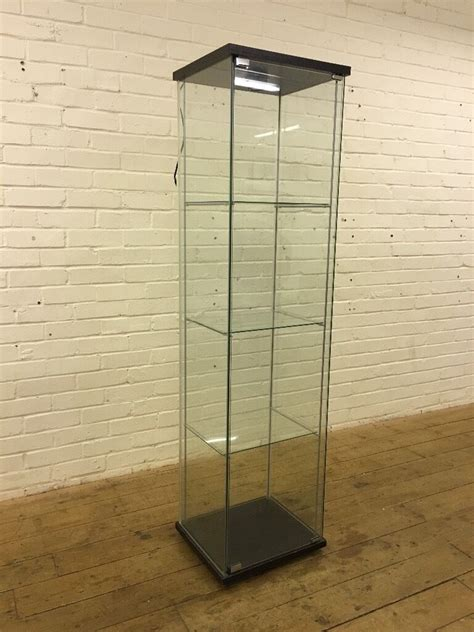 Ikea Detolf Glass Display Cabinet Light by Ikea Detolf All Glass Display Cabinet With Light Fitting
