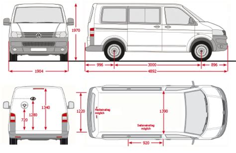 volkswagen caravelle dimensions t5 mutivan interior dimension smart furniture