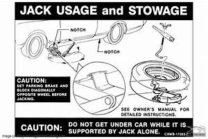 Decal - Jack Instructions - Repro ~ 1968 Mercury Cougar / 1968 Ford Mustang ( 1968 Mercury ...