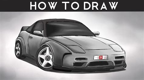 nissan skyline drawing step by step how to draw a nissan 240sx step by step drawingpat