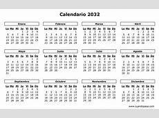 Calendario 2032