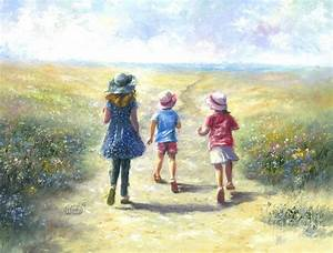 Three Sisters Beach Path Painting by Vickie Wade