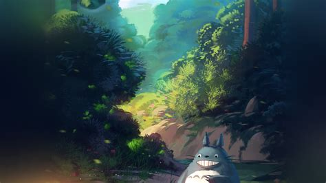 av totoro anime liang xing illustration art blue wallpaper
