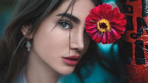 Beautiful Girl Flower Aesthetic