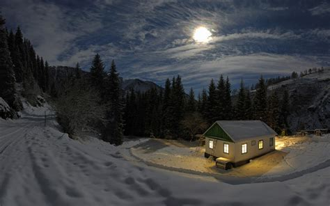 cold moon house wallpapers hd wallpapers id