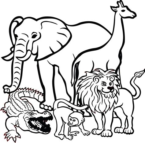 clipart  african animals