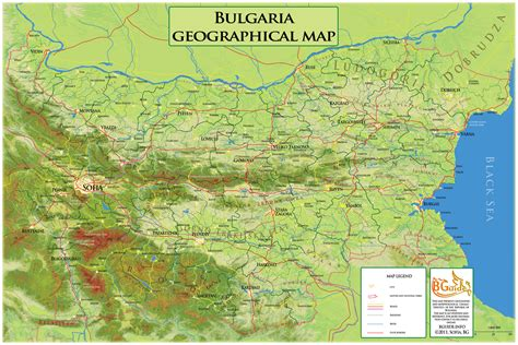 detailed geographic map  bulgaria bulgaria detailed
