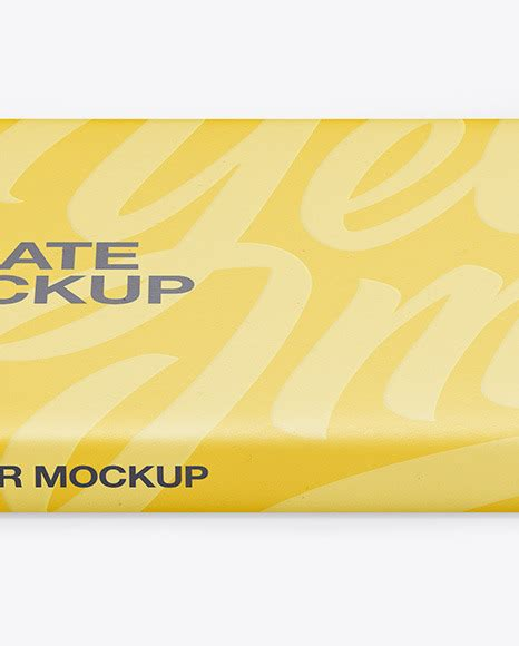 Here we present you a brand new chocolate bar packaging mockup psd file for your product branding project. Paper Chocolate Bar Mockup - Front View (High Angle Shot ...