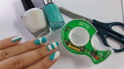 disenos de unas faciles  cinta adhesiva youtube