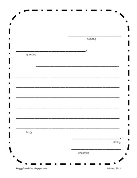 Free Letter Writing Template by Friendly Letter Template Printable Vastuuonminun