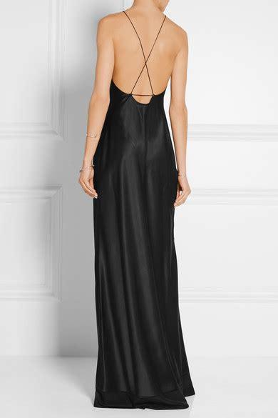 calvin klein collection silk satin gown net  portercom