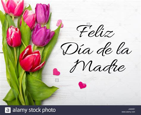 mothers day card  spanish words happy mothers day