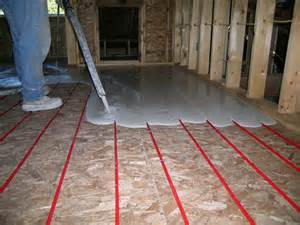 energy efficient heating radiant floor installation from
