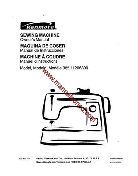 Kenmore 38511206300 Sewing Machine Manual