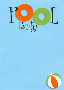 Baby Boy Borders For Invitations Swimming Pool Party Invitations Pool Design Ideas
