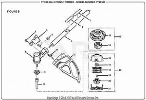 Homelite Ry29550 30cc String Trimmer Parts Diagram For