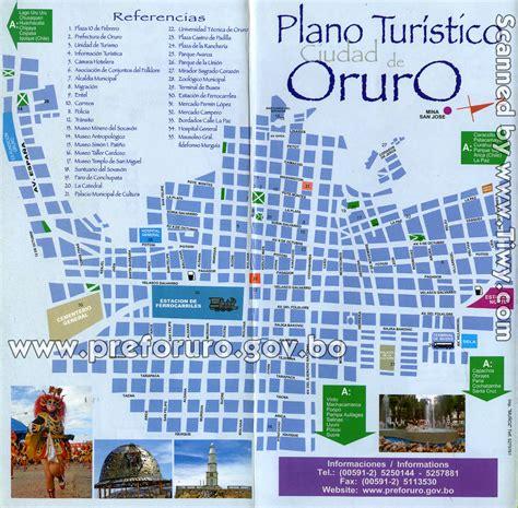 Tiwy.com - Mapa de Oruro, Bolivia
