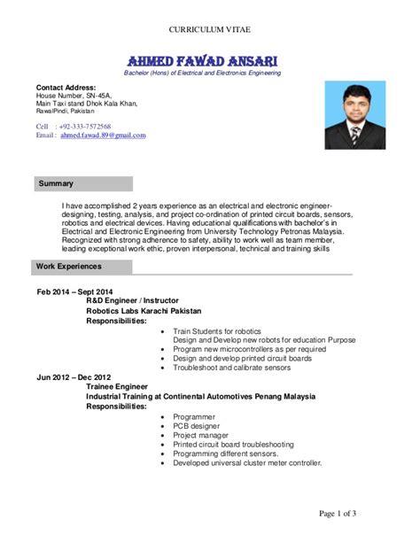 resume ahmed fawad new robotics labs 1