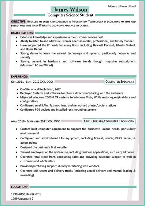 Content Of Resume For Freshers by See The Best Resume Format For Freshers Best Resume Format