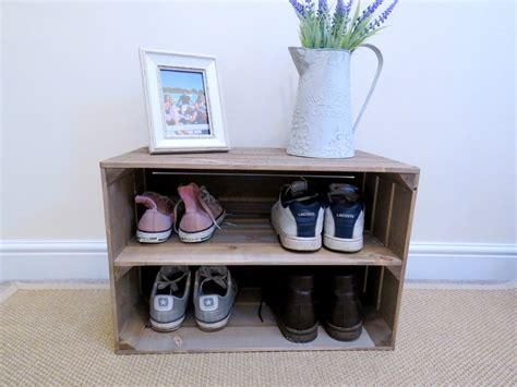 shabby chic shoe rack shabby chic wooden shoe rack with extra depth rustic
