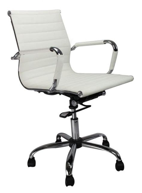 blaze white chrome office chair