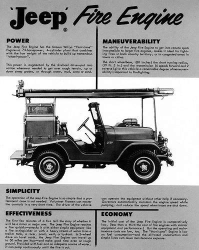 jeep print ads 1960 jeep fire engine ad jeep willys print ads pinterest