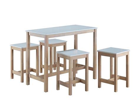 Table Haute + 4 Tabourets Maude
