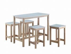 Table De Cuisine Haute : table haute 4 tabourets maude tidy home ~ Dailycaller-alerts.com Idées de Décoration
