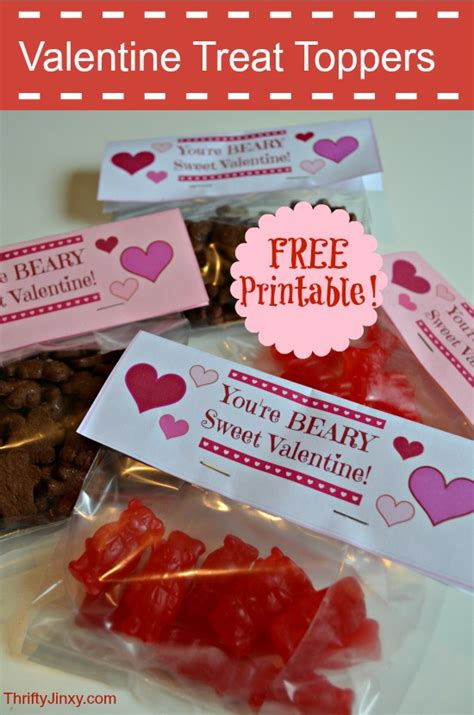 printable valentines day treat toppers thrifty jinxy