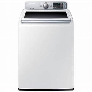 Samsung 4 5 Cu  Ft  Top Load Washer In White  Energy Star-wa45h7000aw