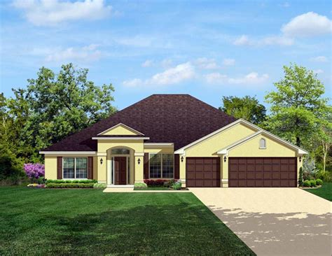 House Plan 50845 Colonial Style with 2508 Sq Ft 4 Bed