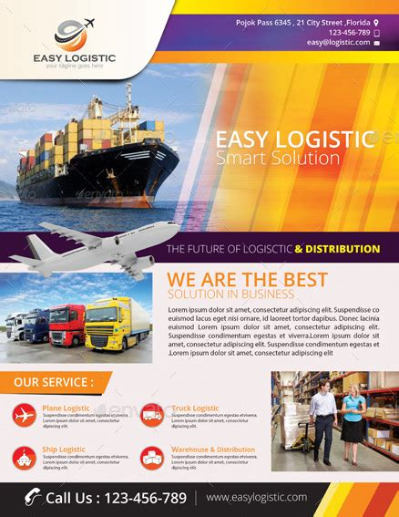 Easy Logistic Smart Solution Flyer By Tholai Graphicriver
