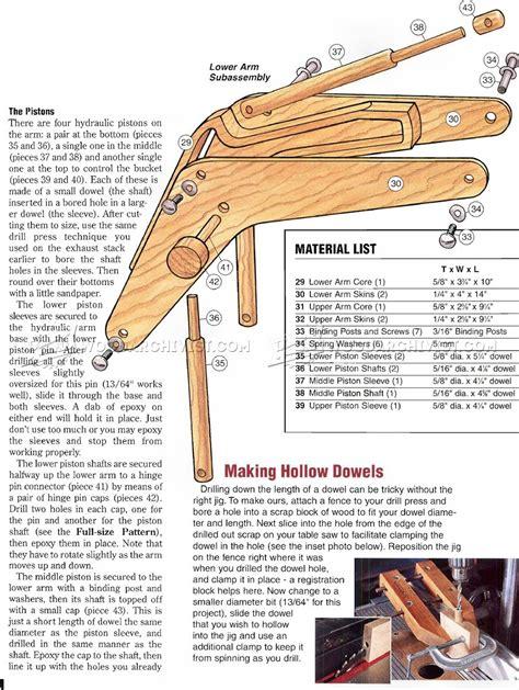 wooden toy digger plans woodarchivist