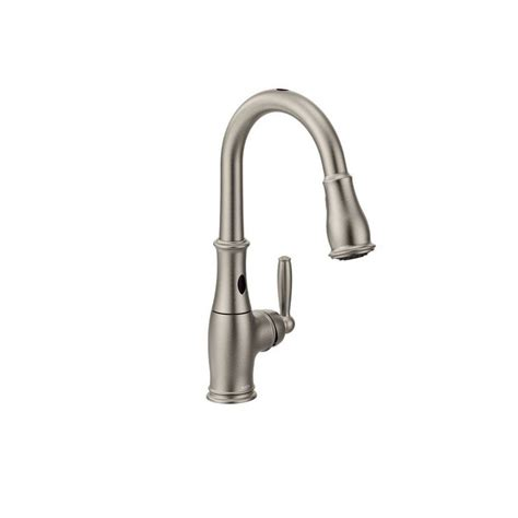 moen motionsense faucet manual moen 7185esrs spot resist stainless single handle pullout