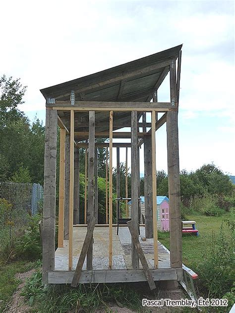 Garden Shed Building Plan   Firewood Rack with Roof