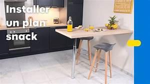 Table Cuisine Murale : comment installer une table murale dans la cuisine castorama youtube ~ Melissatoandfro.com Idées de Décoration