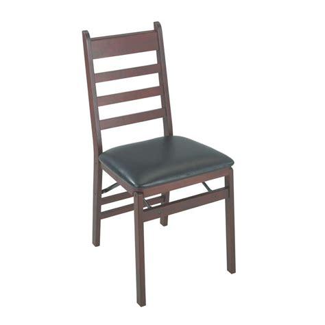 Cosco Wood Folding Chair Mission Style Back by Cosco Woodcrest Brown Folding Chair Set Of 2 37273esp2e