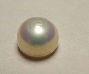 Natural Pearl USA Freshwater 3 carat Button Shape