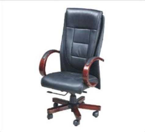 alps high back chair black genuine leather oxford