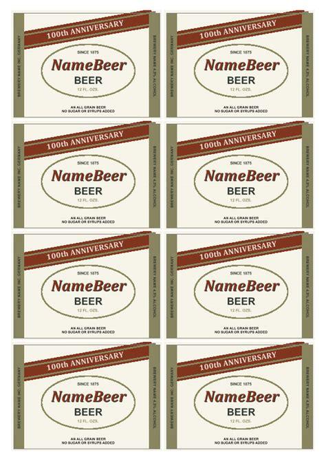 plantilla de etiqueta de cerveza realice sus propias
