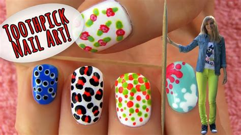 toothpick nail art  nail art designs ideas