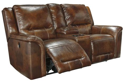 double recliner sofa with console jayron harness double reclining power loveseat with