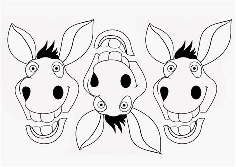 Donkey Face Drawing At Getdrawingscom Free For Personal