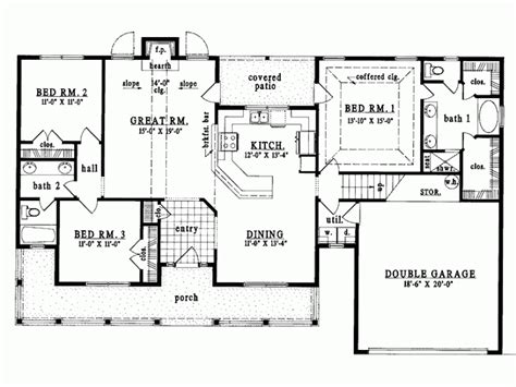 one level house plans eplans country house plan single level living 1627