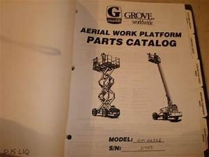 Grove Sm2632e Manlift Aerial Work Platform Parts  U0026 Service
