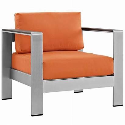 Outdoor Aluminum Patio Cushions Orange Shore Lounge
