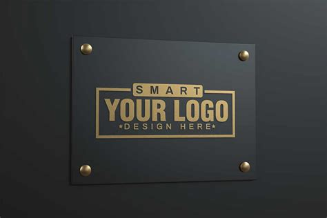 collection   logo mockup  psd