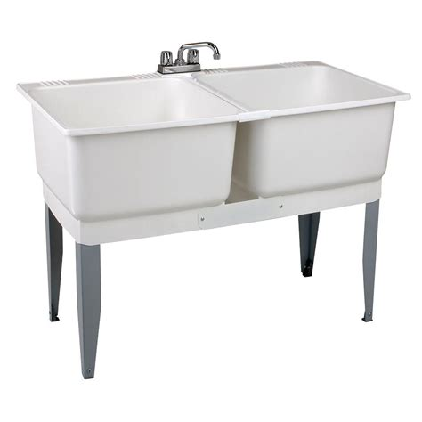 home depot laundry sink mustee 46 in x 34 in plastic laundry tub 24c the home
