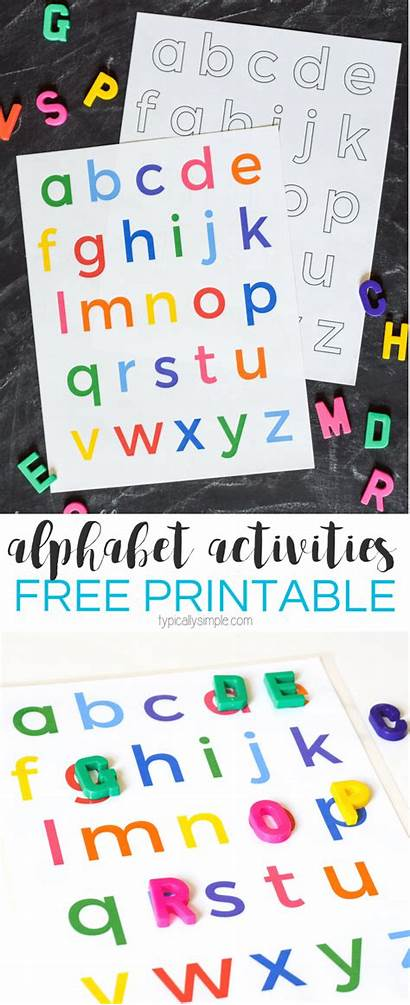 Lowercase Alphabet Printable Letters Matching Activities Preschool