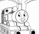 Train Thomas Coloring Pages Tank Drawing Caboose Sherman Track Printable Engine Tracks Getcolorings Getdrawings Toy sketch template